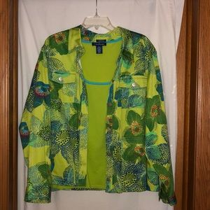 Patterned jacket with matching undershirt